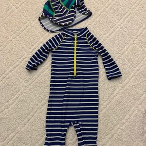 Baby Boden Wetsuit and Hat